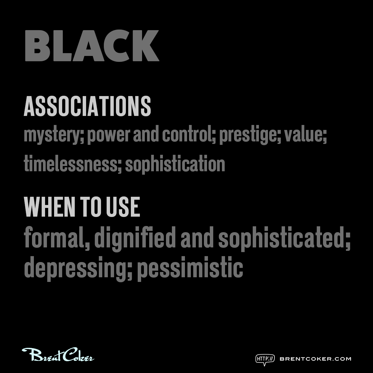 The psychology of colour in marketing Black