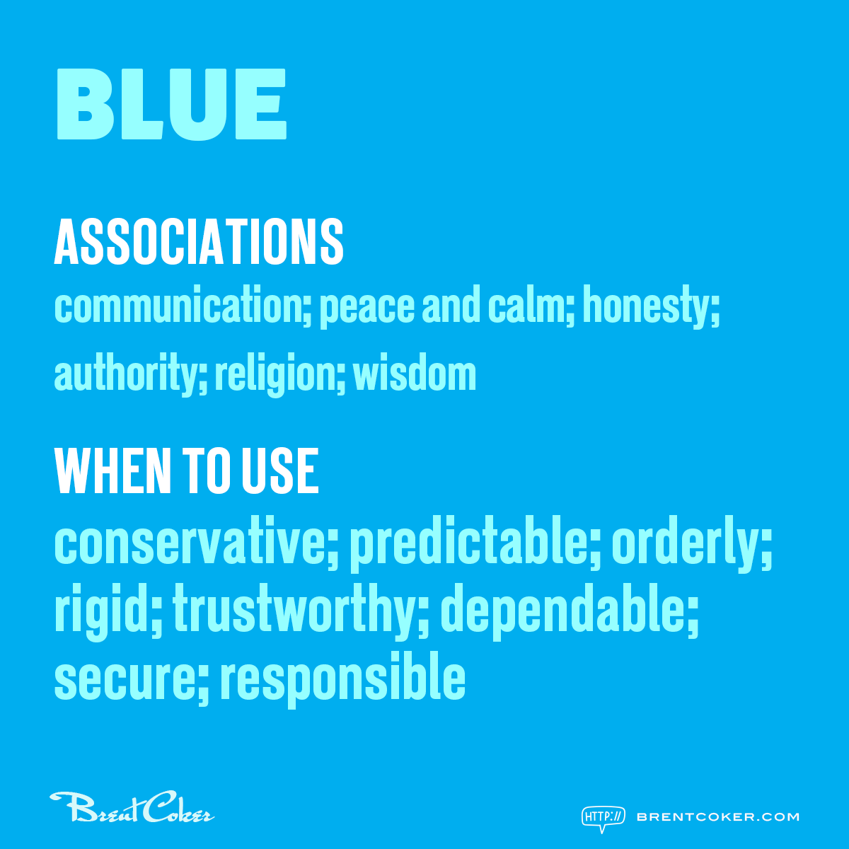 The psychology of colour in marketing Blue