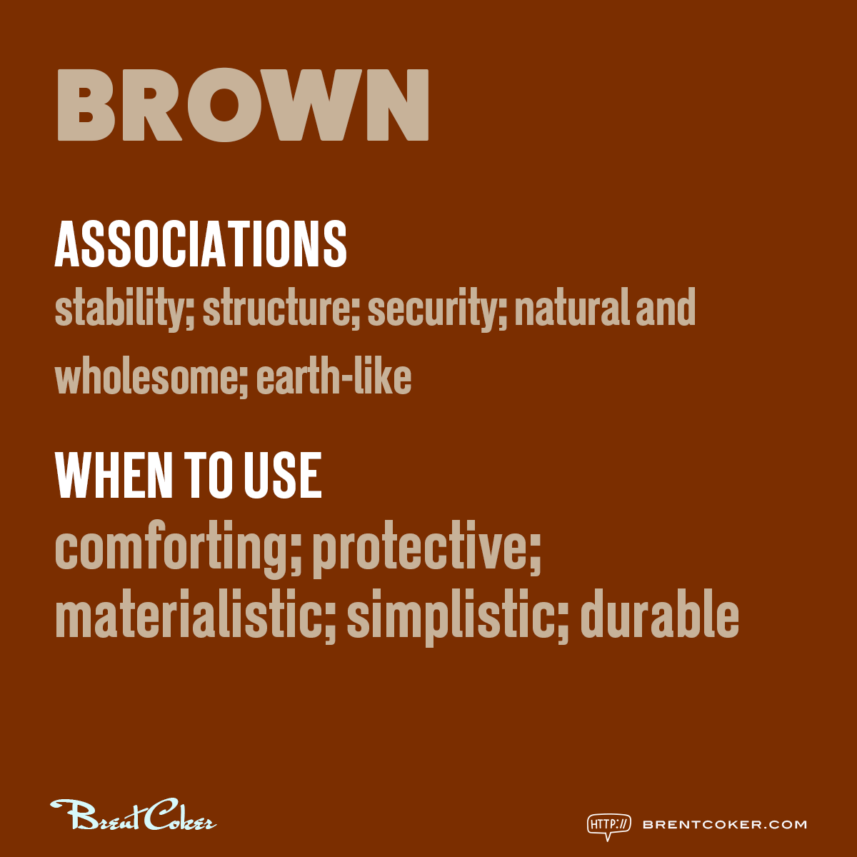 The psychology of colour in marketing Brown