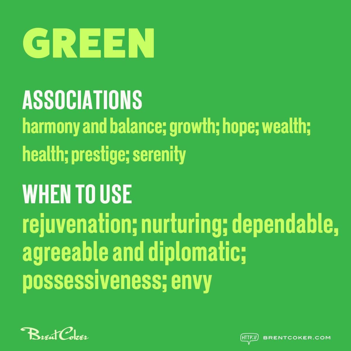 The psychology of colour in marketing Green