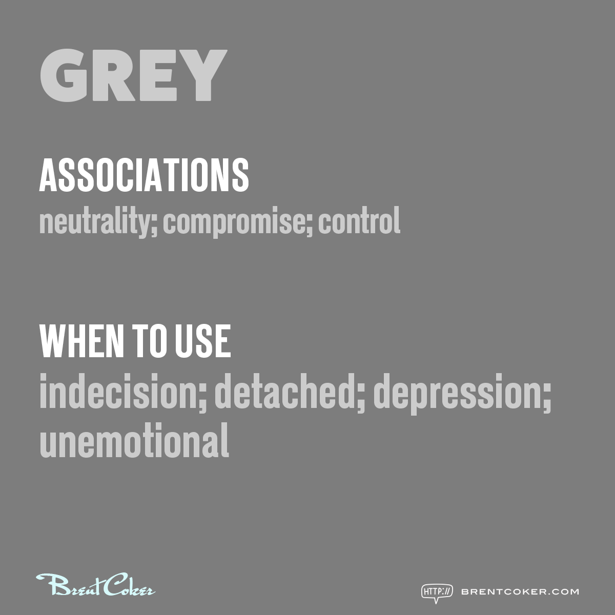 The psychology of colour in marketing Grey