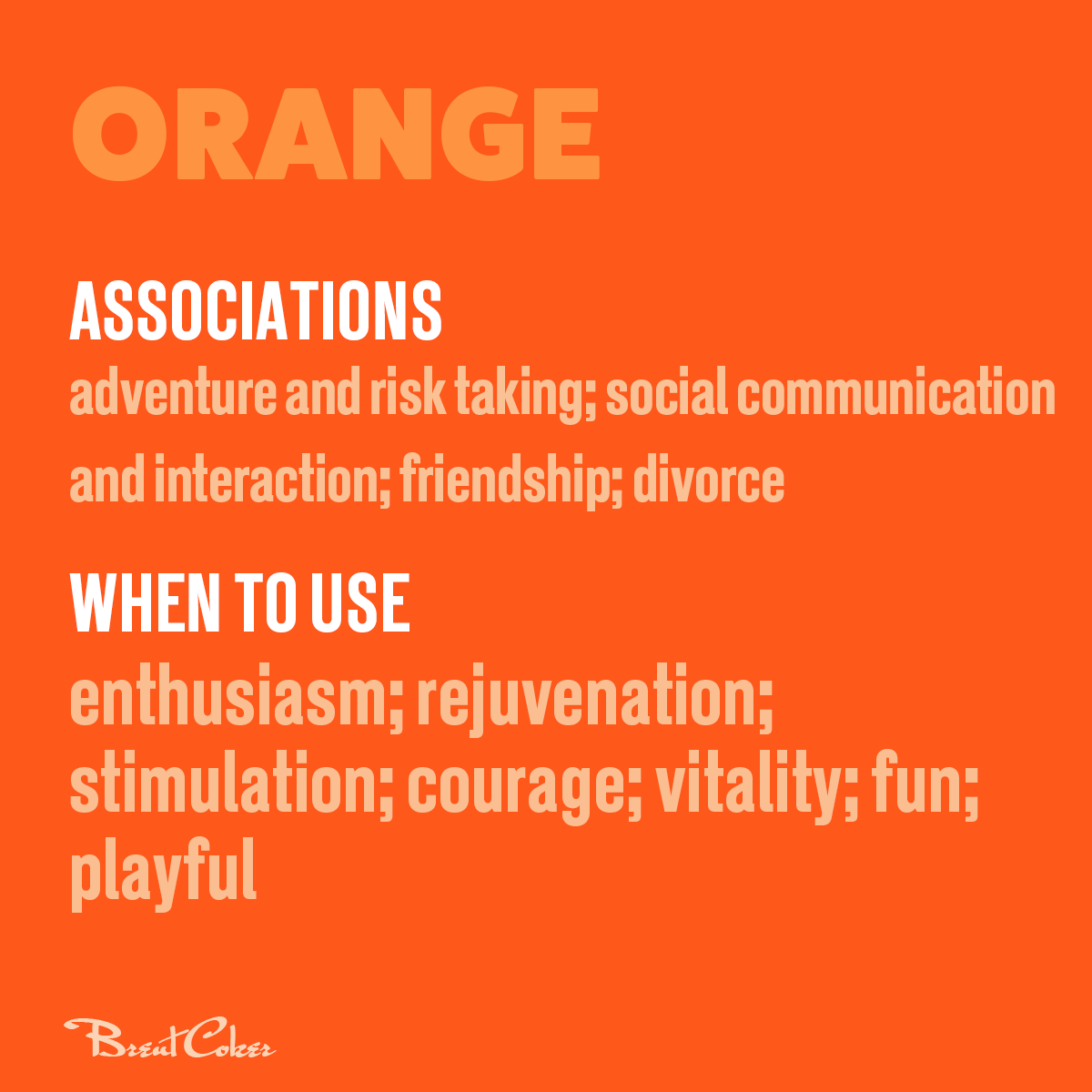 The psychology of colour in marketing Orange