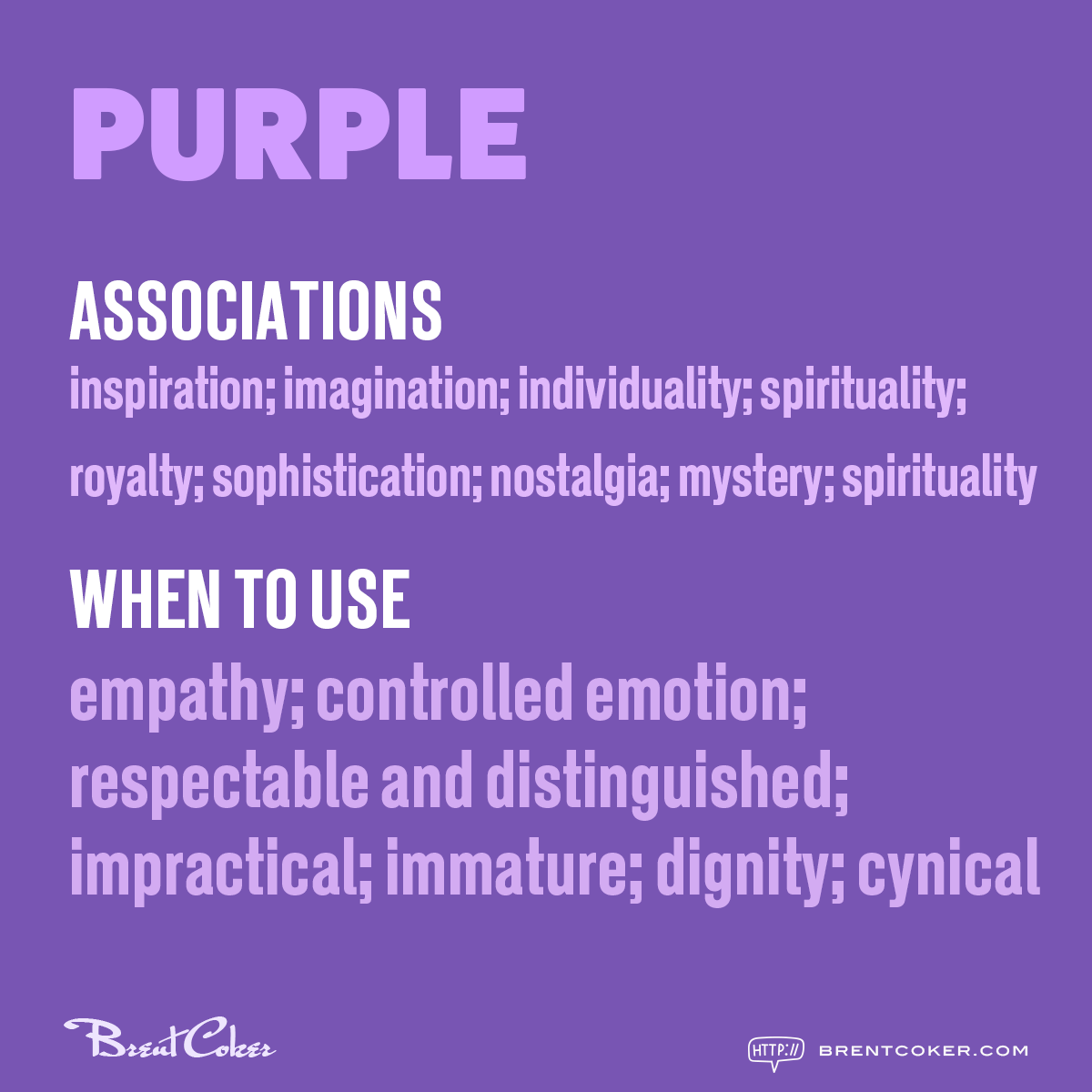 The psychology of colour in marketing Purple
