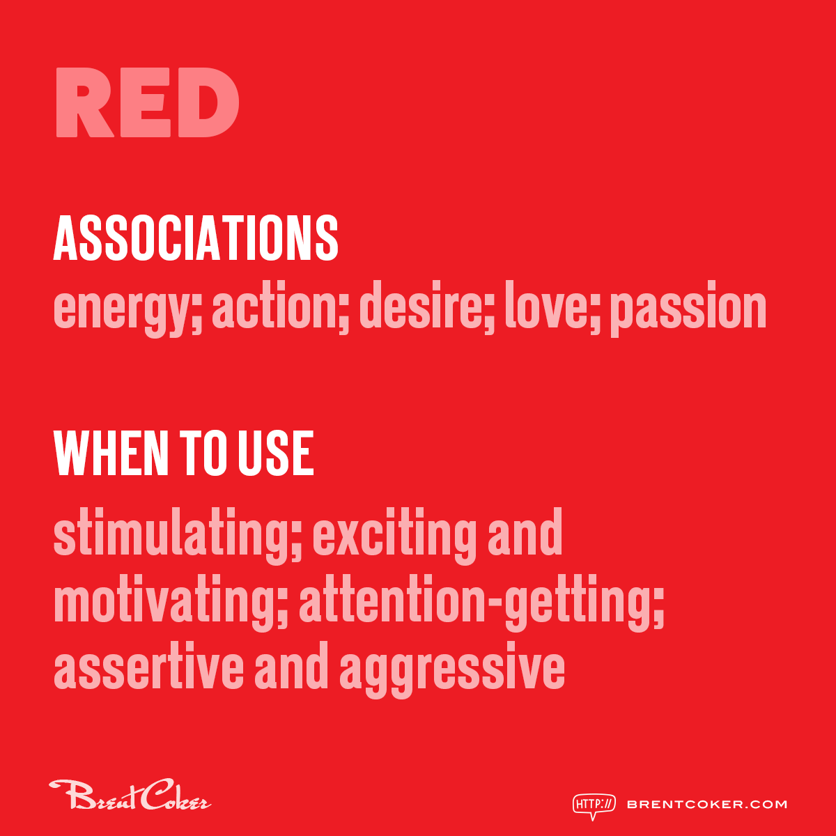The psychology of colour in marketing Red
