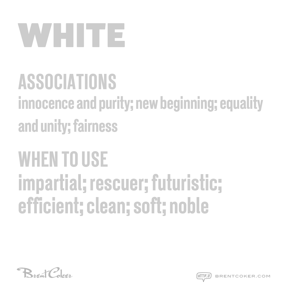 The psychology of colour in marketing White
