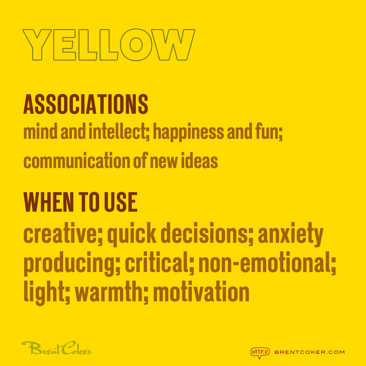 The psychology of colour in marketing Yellow